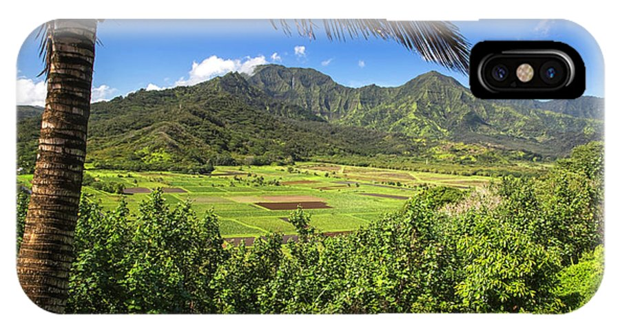 Daryl L. Hunter IPhone X / XS Case featuring the photograph Hanalei Valley by Daryl L Hunter