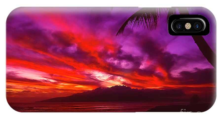 Landscapes IPhone X Case featuring the photograph Hand of Fire by Jim Cazel
