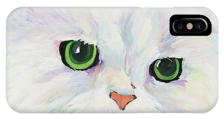 Acrylic IPhone X Case featuring the painting Hannah by Pat Saunders-White