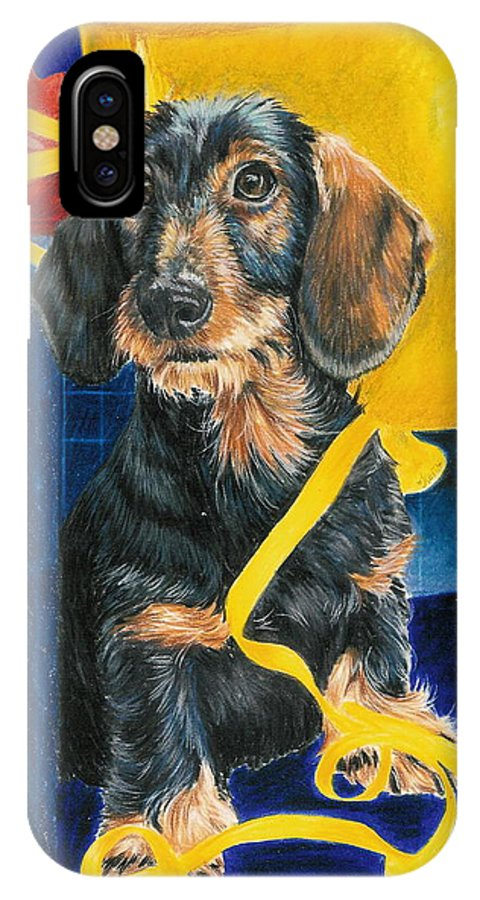 Dogs IPhone X Case featuring the drawing Happy Birthday by Barbara Keith