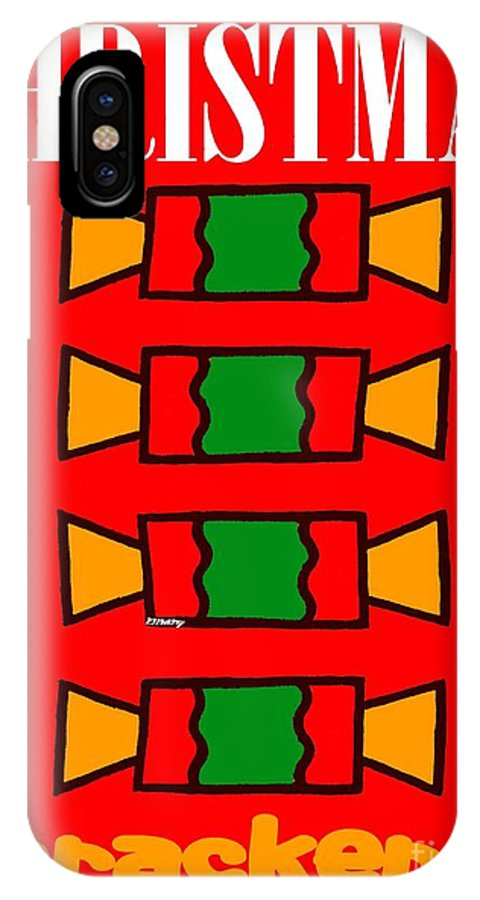 Christmas IPhone X Case featuring the painting Happy Christmas 14 by Patrick J Murphy