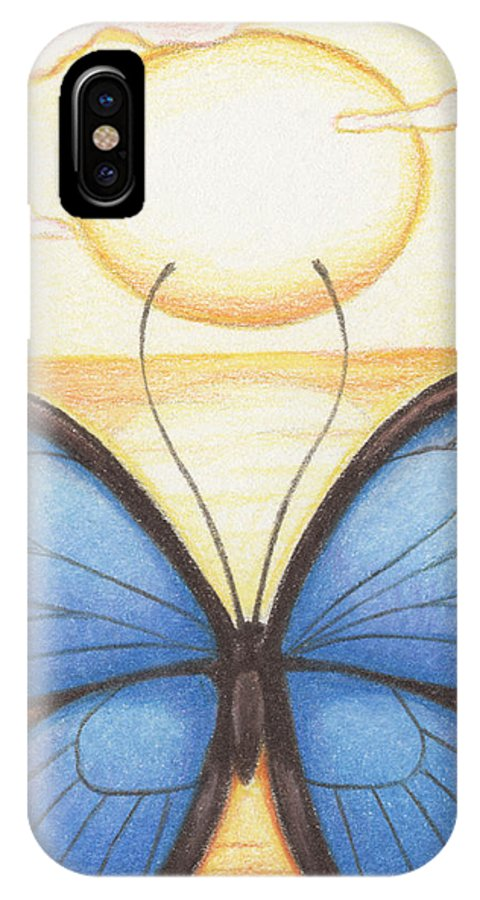 Atc IPhone X Case featuring the drawing Happy Heart by Amy S Turner