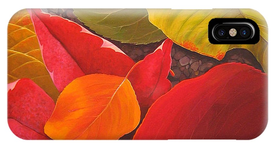 Autumn Leaves IPhone Case featuring the painting Happy Landings by Hunter Jay