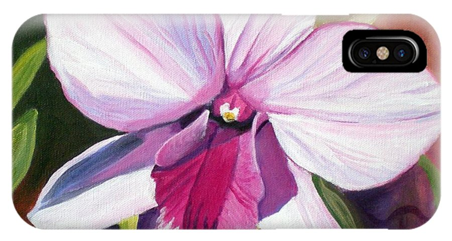 Kauai IPhone Case featuring the painting Happy Orchid by Marionette Taboniar