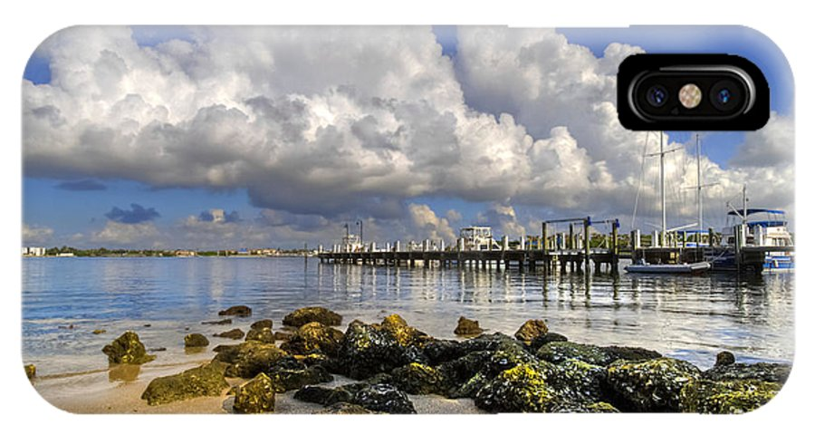 Boats IPhone X Case featuring the photograph Harbor Clouds At Boynton Beach Inlet by Debra and Dave Vanderlaan