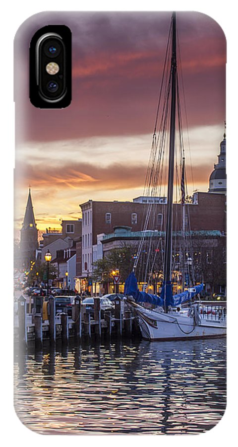 Annapolis IPhone X Case featuring the photograph Harbor Sunset by Richard Nowitz