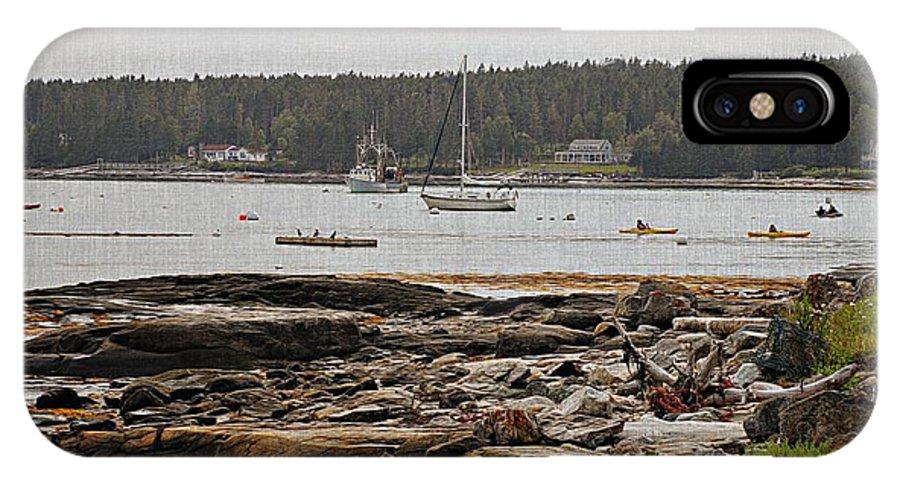 Marcia Lee Jones IPhone X Case featuring the photograph Harbor View by Marcia Lee Jones