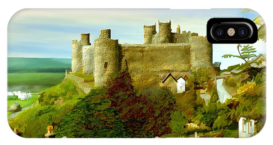 Castles IPhone X Case featuring the photograph Harlech Castle by Kurt Van Wagner