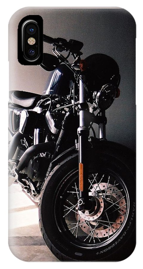 Harley IPhone X / XS Case featuring the photograph Harley Davidson by Thitinun Lerdkijsakul