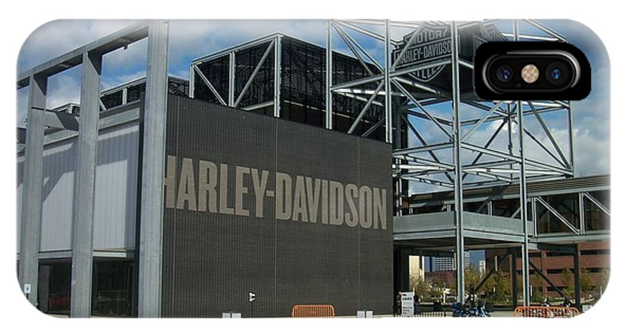 IPhone X Case featuring the photograph Harley Museum by Anita Burgermeister