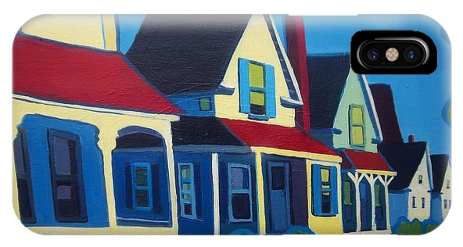 Maine IPhone X Case featuring the painting Harpswell Cottages by Debra Bretton Robinson
