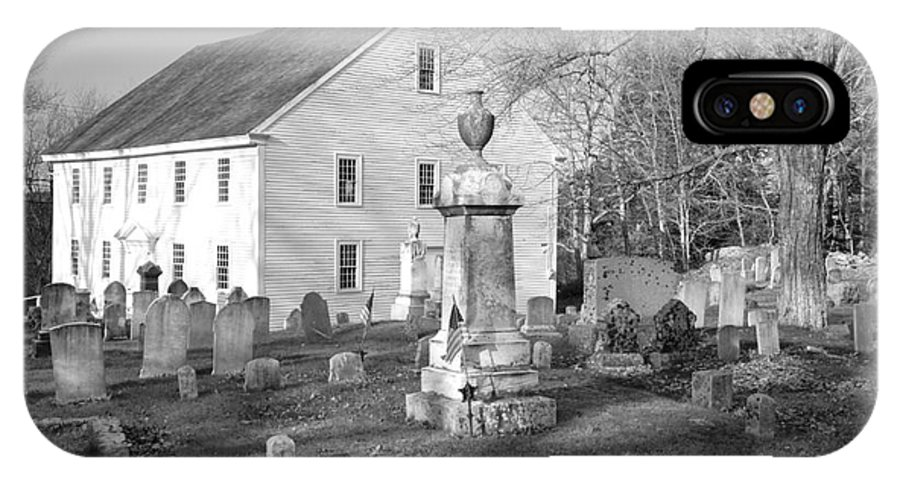 Maine IPhone X Case featuring the photograph Harrington Meetinghouse -Bristol ME USA by Erin Paul Donovan