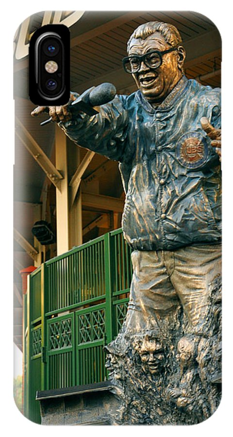 Harry Caray IPhone X Case featuring the photograph Harry Caray by Anthony Citro