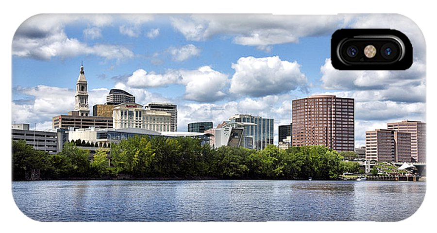 hartford Connecticut IPhone X Case featuring the photograph Hartford Connecticut - Skyline by Brendan Reals