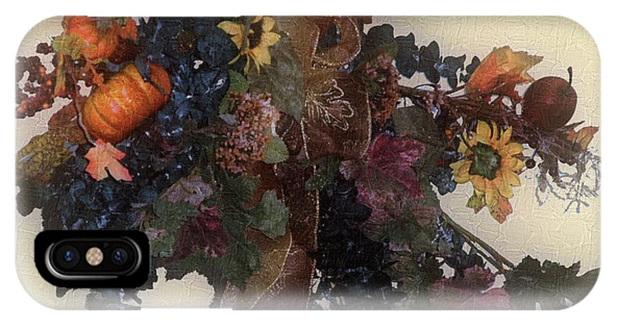 Autumn IPhone X Case featuring the painting Harvest Home by RC DeWinter