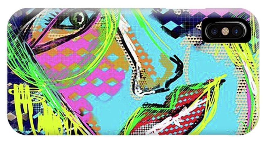 Hasta La Vista IPhone X Case featuring the digital art Hasta La Vista by Sladjana Lazarevic