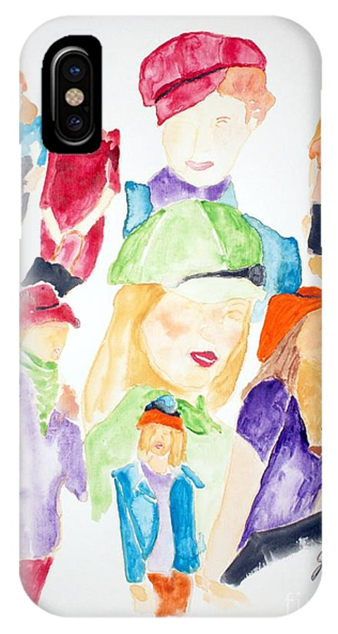 Hats IPhone Case featuring the painting Hats by Shelley Jones