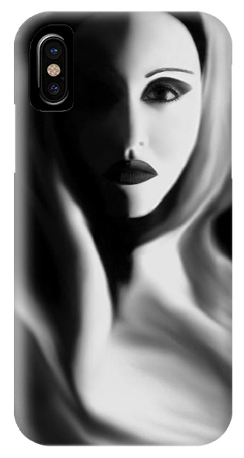 Abstract IPhone X Case featuring the photograph Haunted - Self Portrait by Jaeda DeWalt