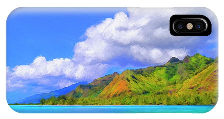 Hauru Point IPhone X Case featuring the painting Hauru Point Moorea by Dominic Piperata