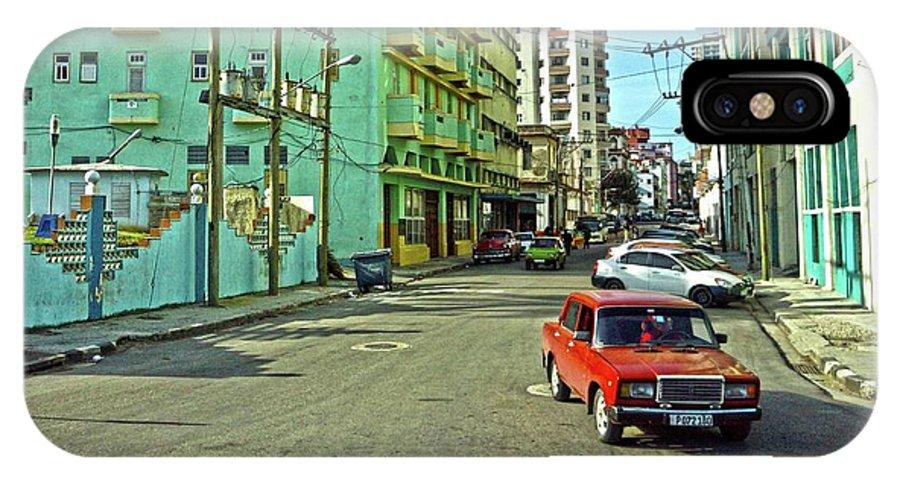 Havana IPhone X Case featuring the photograph Havana-47 by Rezzan Erguvan-Onal