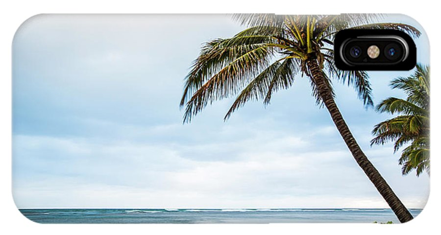 Hawaiian Boy IPhone X / XS Case featuring the photograph Hawaiian Boy Fishing by Daryl L Hunter