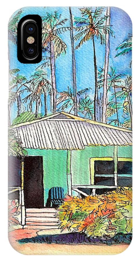 Cottage IPhone X Case featuring the painting Hawaiian Cottage I by Marionette Taboniar