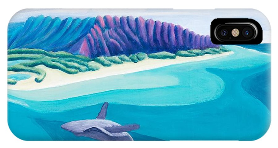 Landscape IPhone X Case featuring the painting Hawaiian Playground by Lynn Soehner