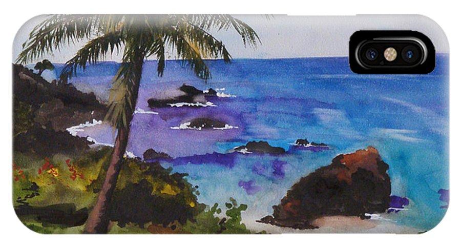 Hawaii IPhone X Case featuring the painting Hawaiian Splendor by Jean Blackmer