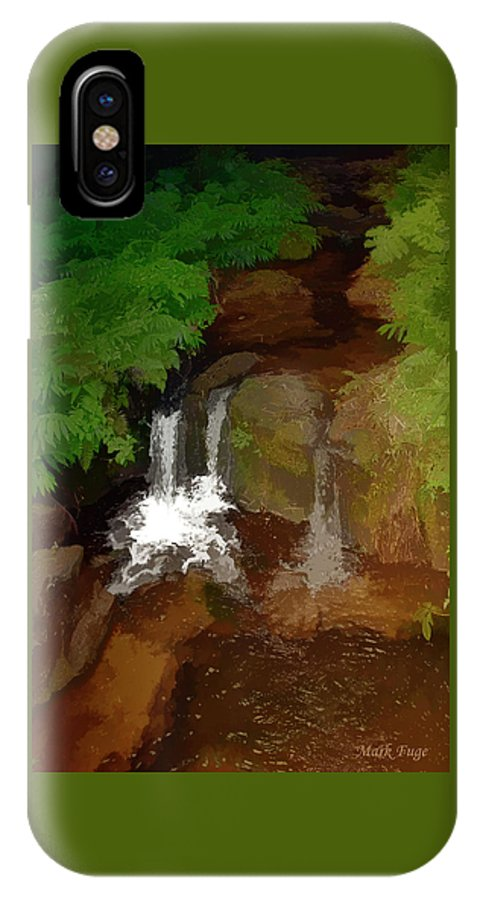 Hawaii IPhone X Case featuring the photograph Hawaiian Stream by Mark Fuge