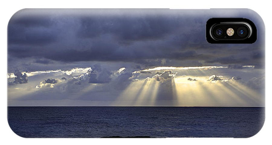 Sunrise IPhone X Case featuring the photograph Hawaiian Sunrise by Mike Herdering