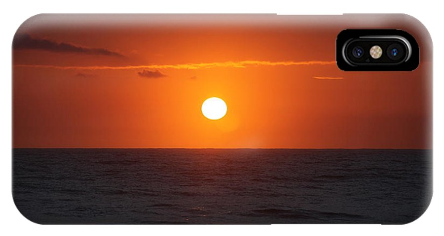 Sunrise IPhone X Case featuring the photograph Hawaiian Sunrise by Nadine Rippelmeyer