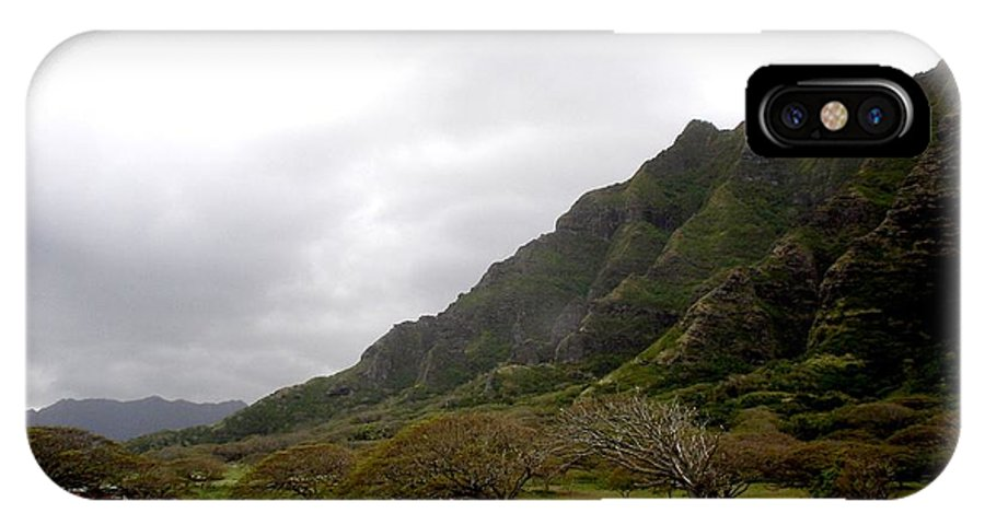 Landscape IPhone X Case featuring the photograph Hawaiin Landscape by Chandelle Hazen