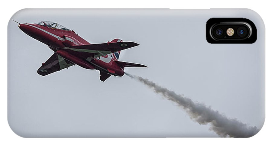 Red IPhone X Case featuring the photograph Hawk Jet by Philip Pound
