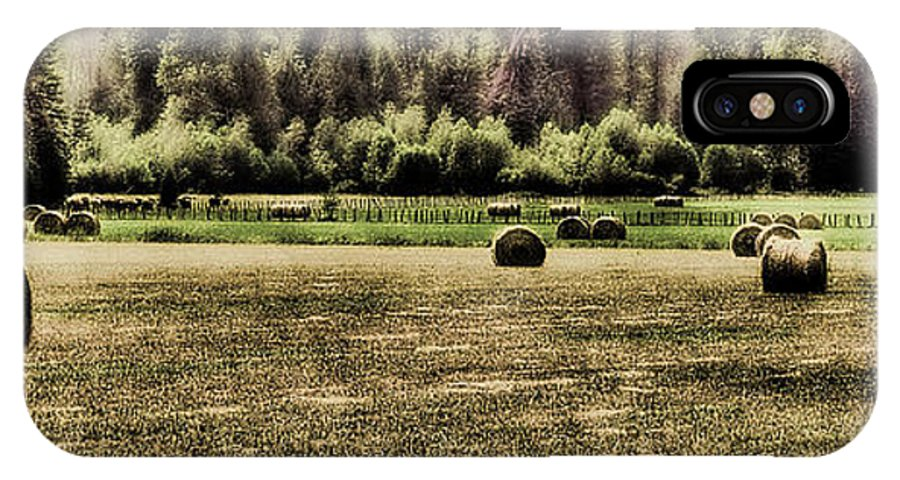 Hay Bales IPhone X Case featuring the photograph Hay Harvest by David Patterson