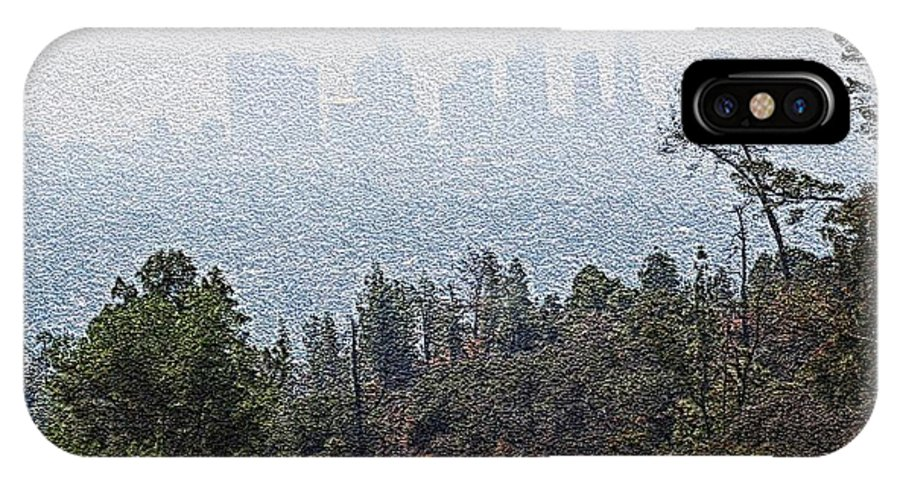 Los Angeles Skyline IPhone X Case featuring the photograph Hazy L.a. by Robert Butler