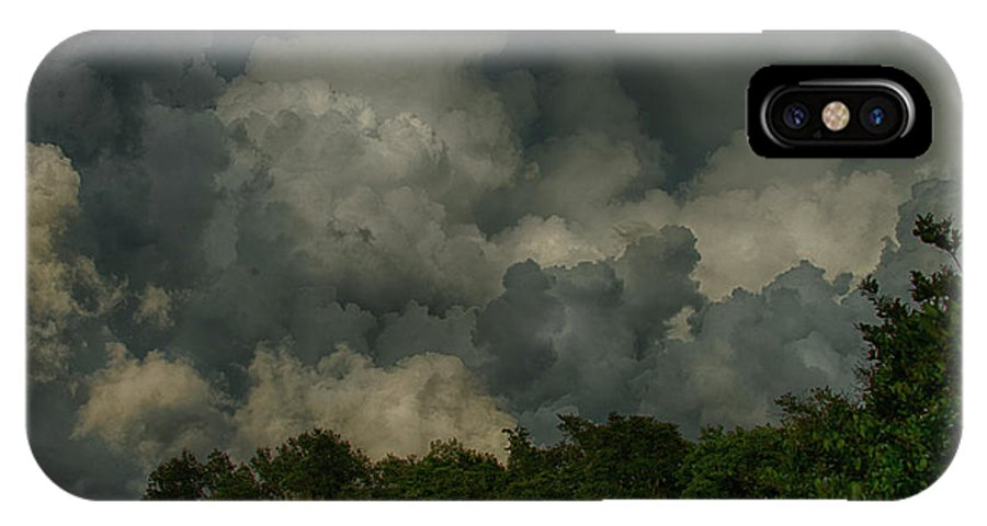 Hdr Clouds IPhone X Case featuring the photograph Hdr Clouds by Ronald Spencer
