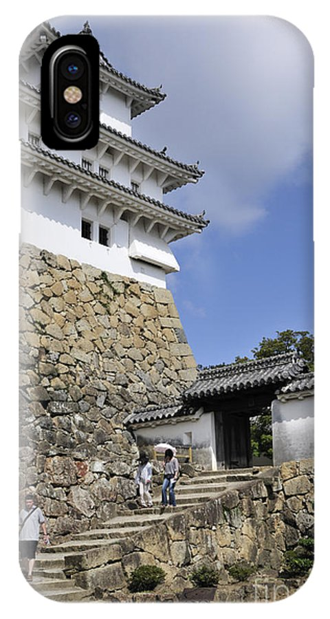 He Gate IPhone X Case featuring the photograph He Gate Himeji Castle Japanese Castles Doorway Gateway Japan by Andy Smy