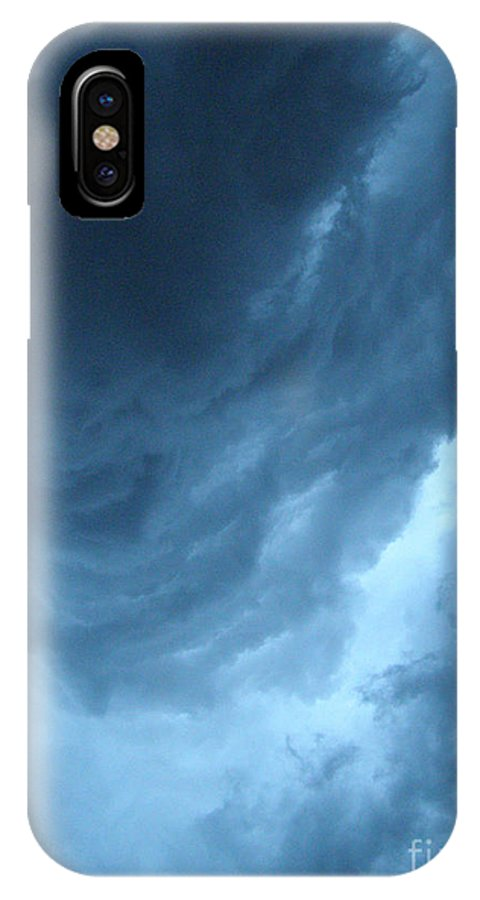 Storm IPhone X Case featuring the photograph Head For Cover by Angie Rea