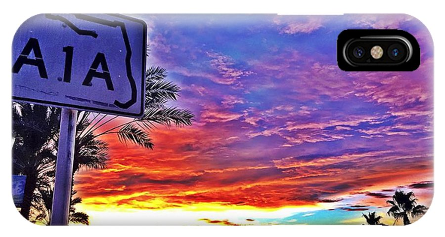 A1a IPhone X Case featuring the photograph Headed Beachside by Jon Magill