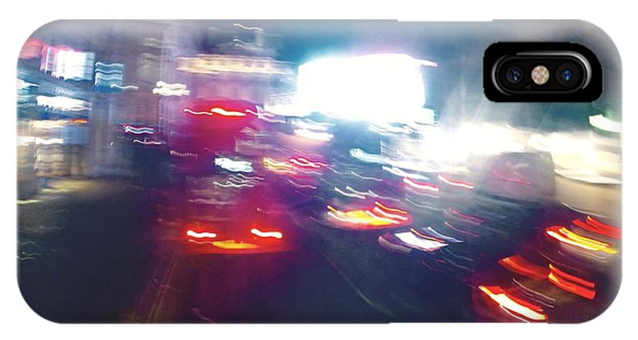 Night IPhone X Case featuring the photograph Headed Home by Steve Swindells