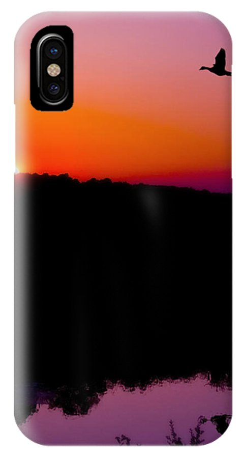 Sunset IPhone X Case featuring the photograph Heading Home by Kenneth Krolikowski