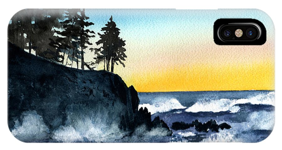 Alaska IPhone X Case featuring the painting Headland by Brenda Owen