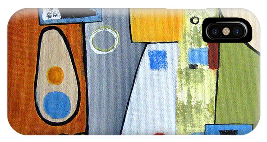 Abstract IPhone Case featuring the painting Headspin II by Ruth Palmer
