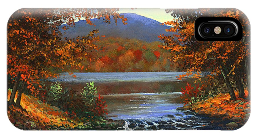 Landscape IPhone Case featuring the painting Headwaters by Frank Wilson