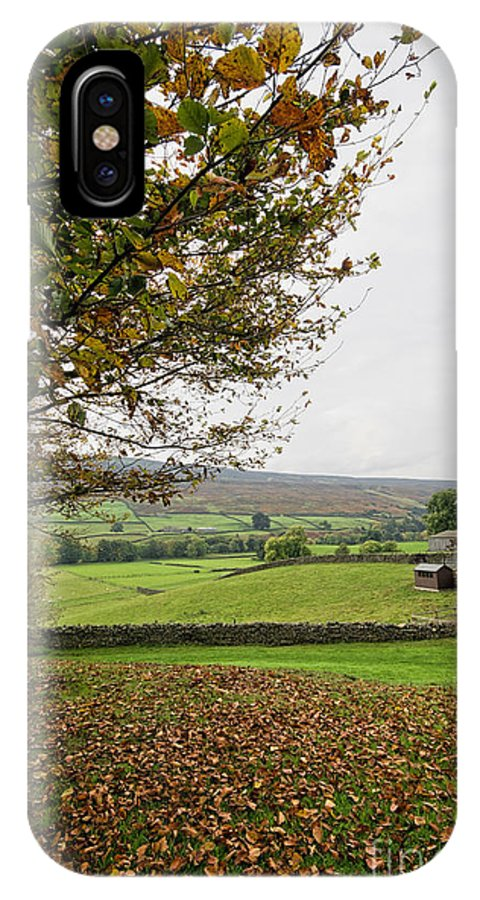 Healaugh Swaledale IPhone X / XS Case featuring the photograph Healaugh, Swaledale by Smart Aviation