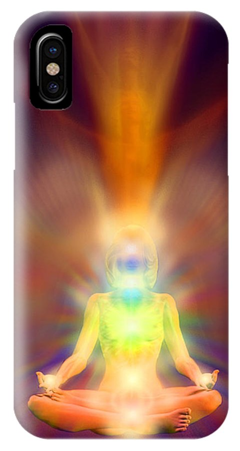 Healthy Aura IPhone X Case featuring the painting Healthy Aura by Robby Donaghey