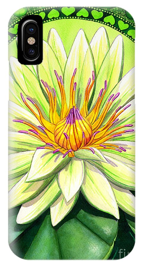 Heart IPhone Case featuring the painting Heart Chakra by Catherine G McElroy