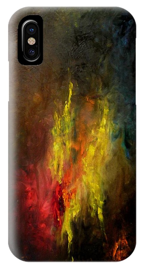Art IPhone X Case featuring the painting Heart Of Art by Rushan Ruzaick