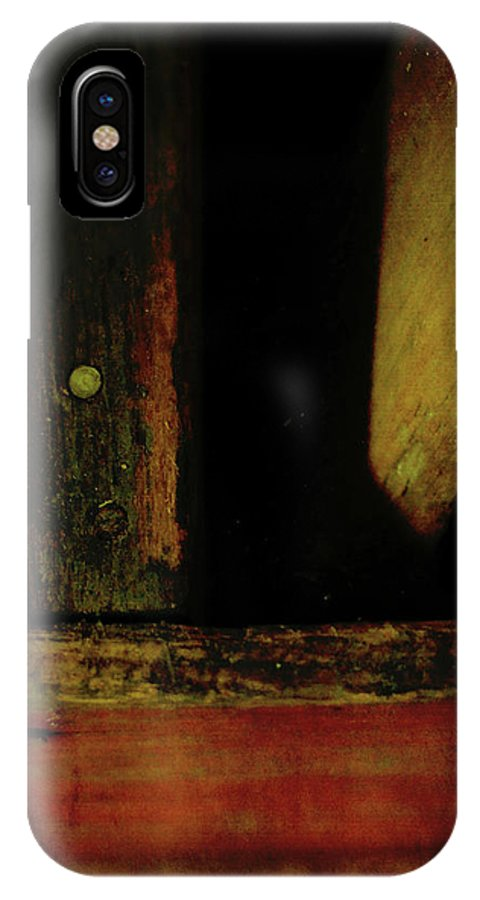Old IPhone X Case featuring the photograph Heart Of Darkness And Light by Rebecca Sherman