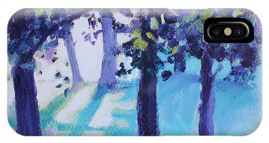 Expressionist IPhone Case featuring the painting Heart Of The Forest by Jan Bennicoff